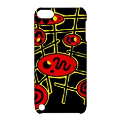 Red and yellow hot design Apple iPod Touch 5 Hardshell Case with Stand