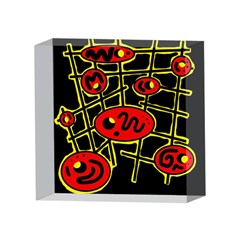 Red and yellow hot design 4 x 4  Acrylic Photo Blocks
