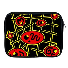 Red and yellow hot design Apple iPad 2/3/4 Zipper Cases