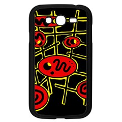 Red and yellow hot design Samsung Galaxy Grand DUOS I9082 Case (Black)