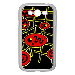 Red and yellow hot design Samsung Galaxy Grand DUOS I9082 Case (White)