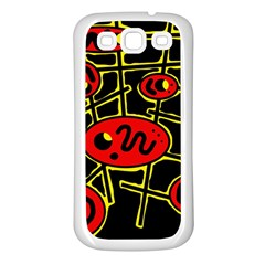 Red and yellow hot design Samsung Galaxy S3 Back Case (White)