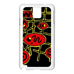 Red and yellow hot design Samsung Galaxy Note 3 N9005 Case (White)