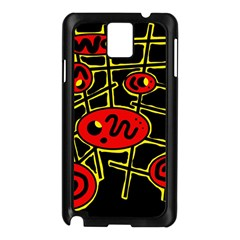 Red and yellow hot design Samsung Galaxy Note 3 N9005 Case (Black)