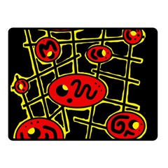 Red and yellow hot design Double Sided Fleece Blanket (Small)