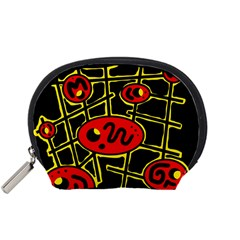 Red and yellow hot design Accessory Pouches (Small)