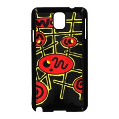 Red and yellow hot design Samsung Galaxy Note 3 Neo Hardshell Case (Black)