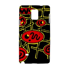 Red and yellow hot design Samsung Galaxy Note 4 Hardshell Case