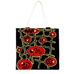Red and yellow hot design Grocery Light Tote Bag