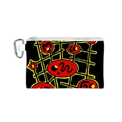 Red and yellow hot design Canvas Cosmetic Bag (S)