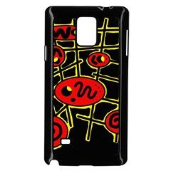 Red and yellow hot design Samsung Galaxy Note 4 Case (Black)