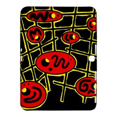Red and yellow hot design Samsung Galaxy Tab 4 (10.1 ) Hardshell Case