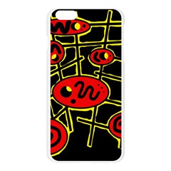Red and yellow hot design Apple Seamless iPhone 6 Plus/6S Plus Case (Transparent)