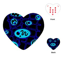 Blue decorative design Playing Cards (Heart)
