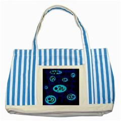 Blue decorative design Striped Blue Tote Bag