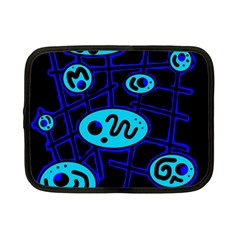 Blue decorative design Netbook Case (Small)