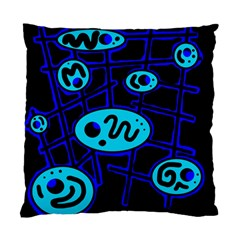 Blue decorative design Standard Cushion Case (Two Sides)