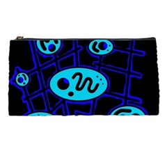 Blue decorative design Pencil Cases