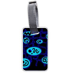 Blue decorative design Luggage Tags (One Side)