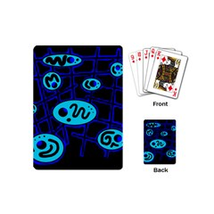 Blue decorative design Playing Cards (Mini)