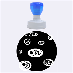 Blue decorative design Rubber Round Stamps (Large)