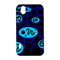 Blue decorative design LG Optimus P970