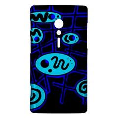 Blue decorative design Sony Xperia ion