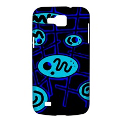 Blue decorative design Samsung Galaxy Premier I9260 Hardshell Case