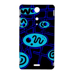 Blue decorative design Sony Xperia TX