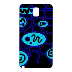 Blue decorative design Samsung Galaxy Note 3 N9005 Hardshell Back Case