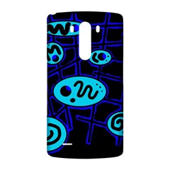 Blue decorative design LG G3 Back Case
