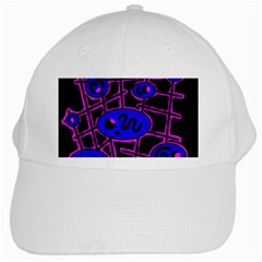 Blue and magenta abstraction White Cap