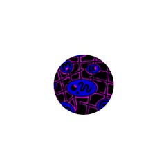 Blue and magenta abstraction 1  Mini Magnets