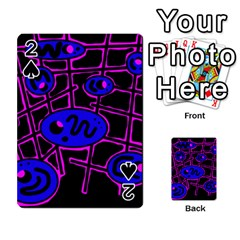 Blue and magenta abstraction Playing Cards 54 Designs