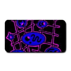 Blue and magenta abstraction Medium Bar Mats