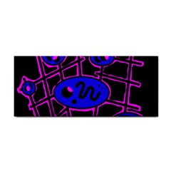 Blue And Magenta Abstraction Hand Towel