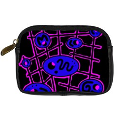 Blue and magenta abstraction Digital Camera Cases