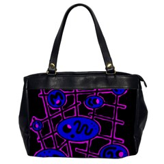 Blue and magenta abstraction Office Handbags