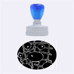 Blue and magenta abstraction Rubber Oval Stamps