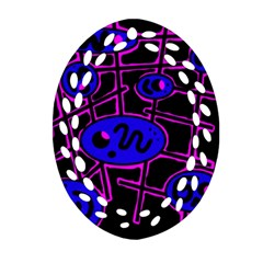 Blue and magenta abstraction Ornament (Oval Filigree)