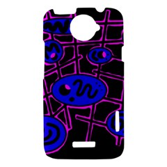 Blue and magenta abstraction HTC One X Hardshell Case