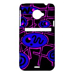 Blue and magenta abstraction HTC Evo 4G LTE Hardshell Case