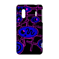 Blue and magenta abstraction HTC Evo Design 4G/ Hero S Hardshell Case