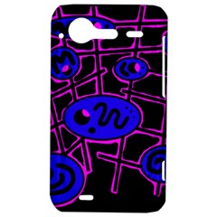 Blue and magenta abstraction HTC Incredible S Hardshell Case