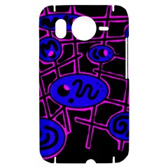 Blue and magenta abstraction HTC Desire HD Hardshell Case