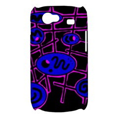 Blue and magenta abstraction Samsung Galaxy Nexus S i9020 Hardshell Case