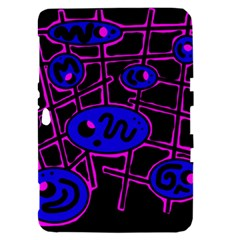 Blue and magenta abstraction Samsung Galaxy Tab 8.9  P7300 Hardshell Case