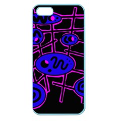Blue and magenta abstraction Apple Seamless iPhone 5 Case (Color)