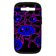 Blue and magenta abstraction Samsung Galaxy S III Hardshell Case (PC+Silicone)