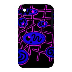 Blue and magenta abstraction Apple iPhone 3G/3GS Hardshell Case (PC+Silicone)